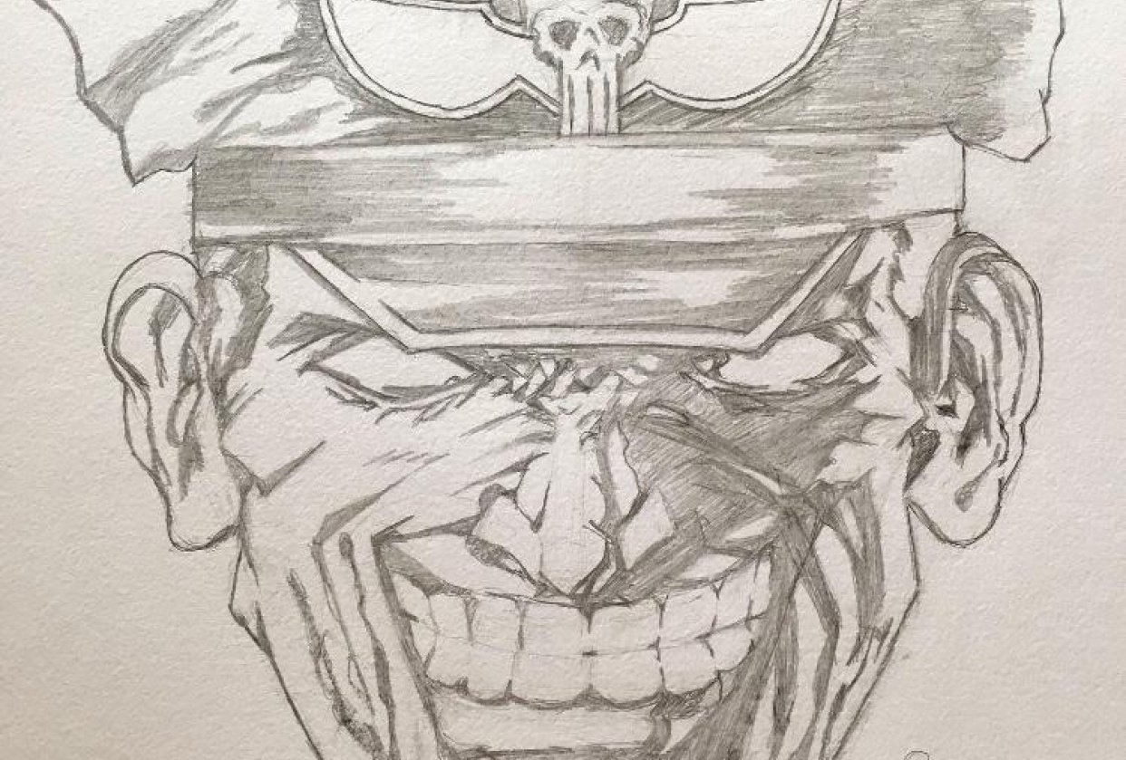 Student project just pencil here. Bison from Street Fighter - student project