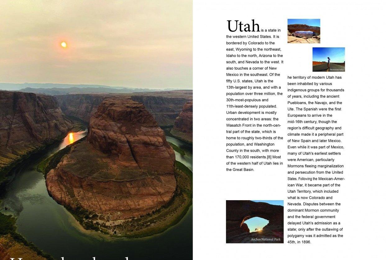 Utah trip - student project