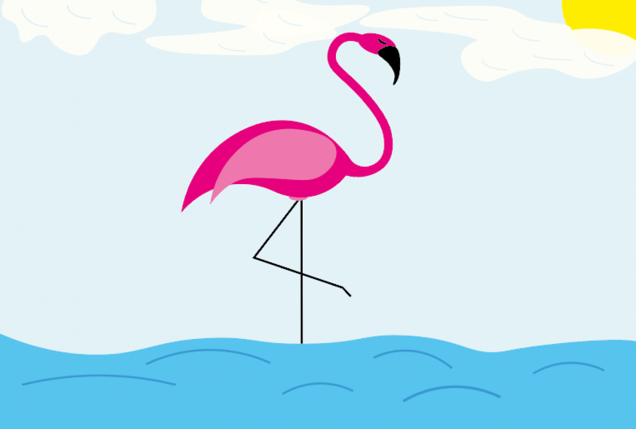 Chilling Flamingo - student project