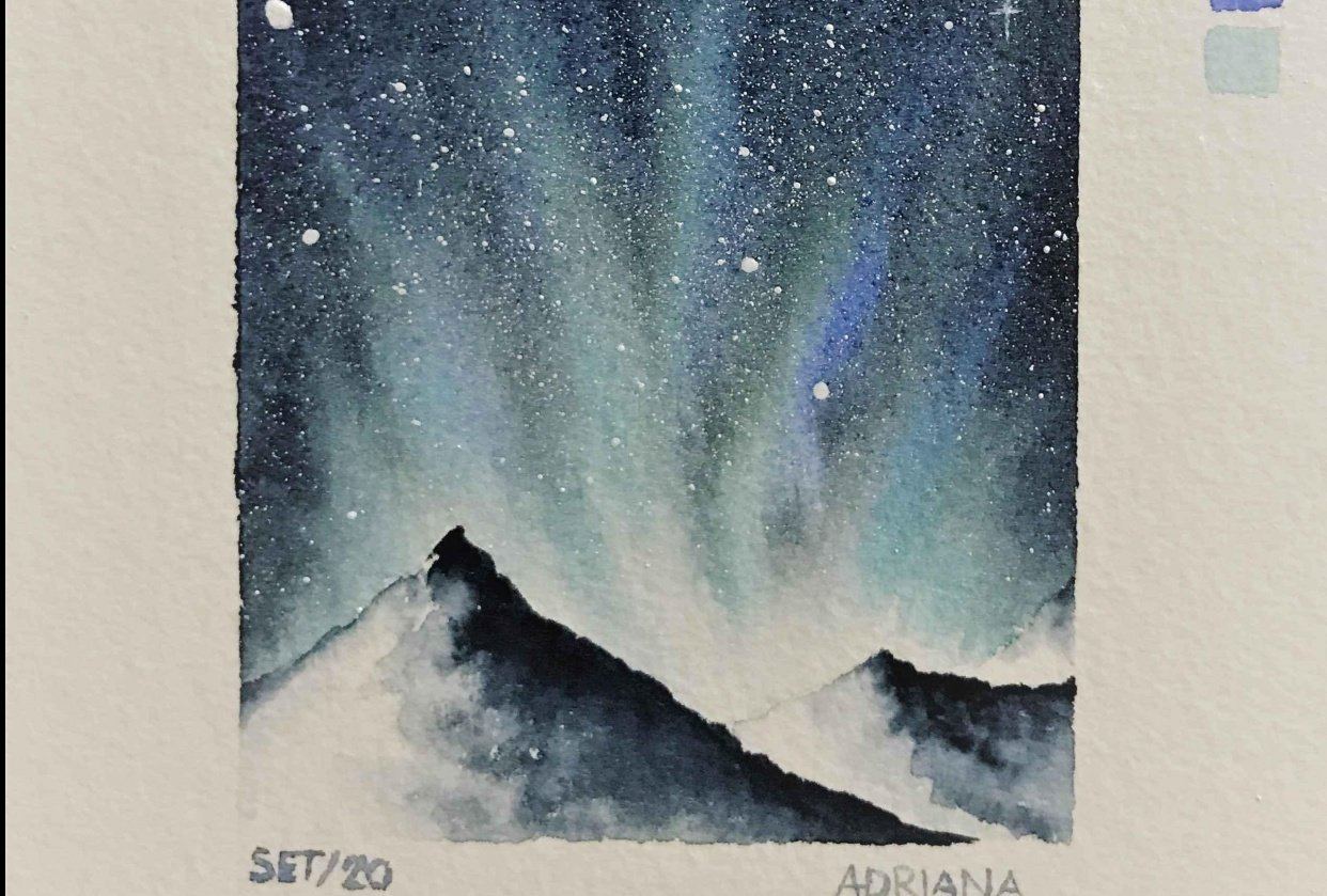 Northern Snowing Lights - student project