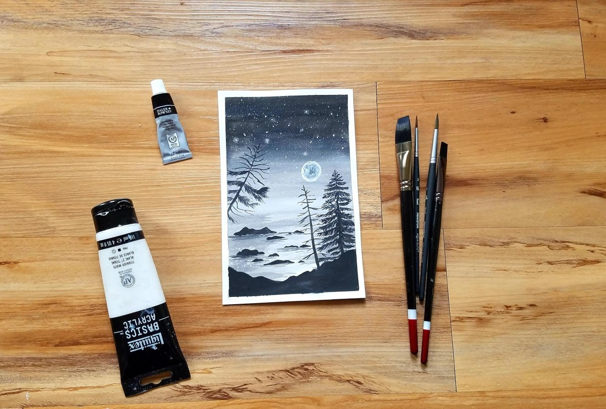 Learn how to draw pine trees - student project