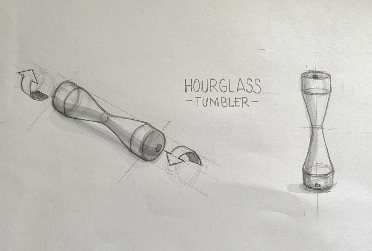 Hourglass Tumbler Design Study - student project