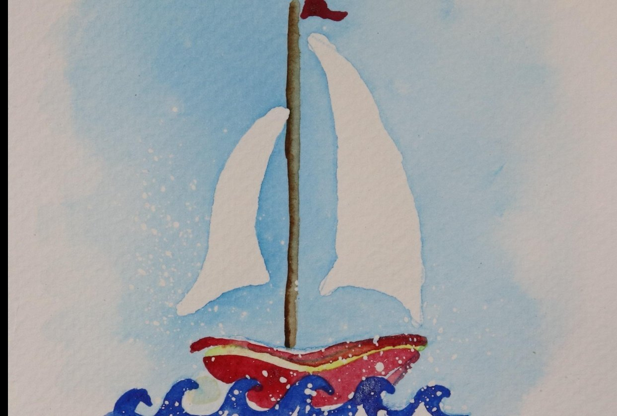 Rock Your Boat Greeting Card - student project