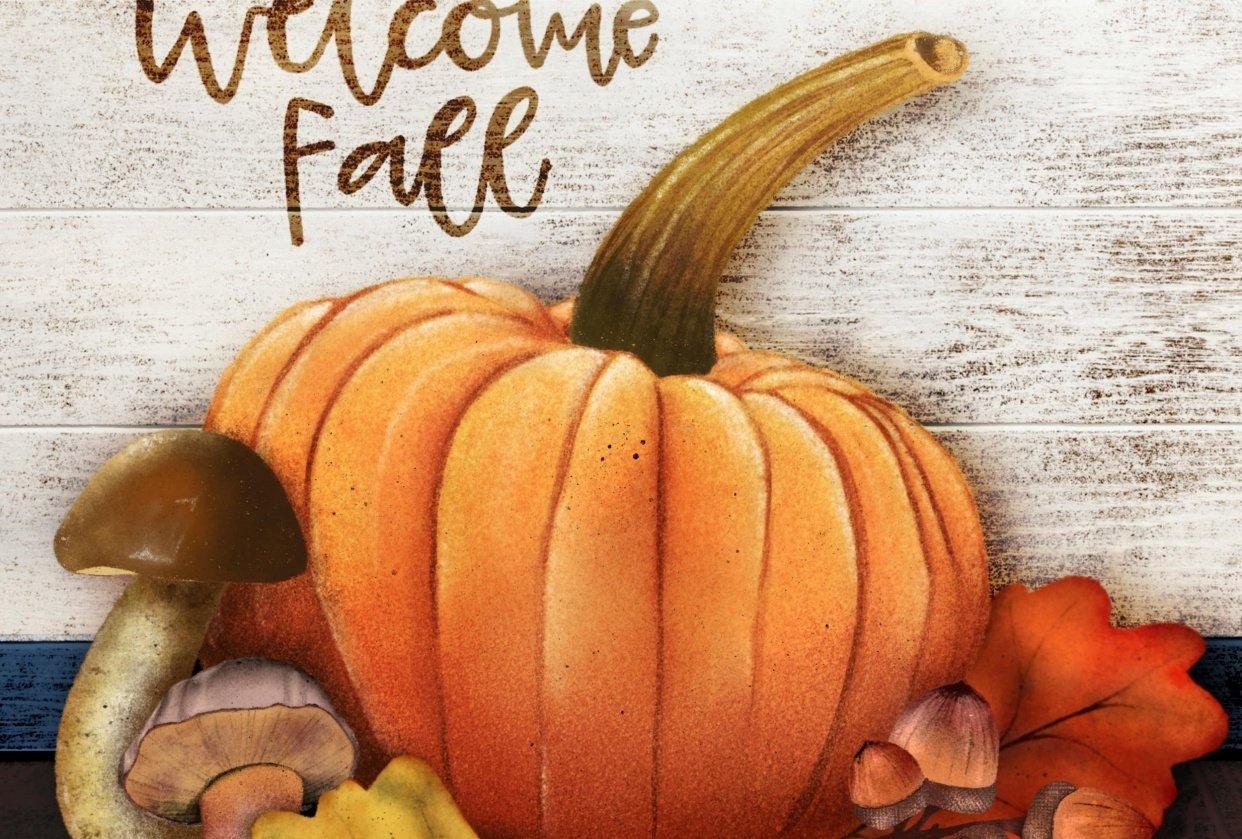 Fall Pumpkin & Such - student project