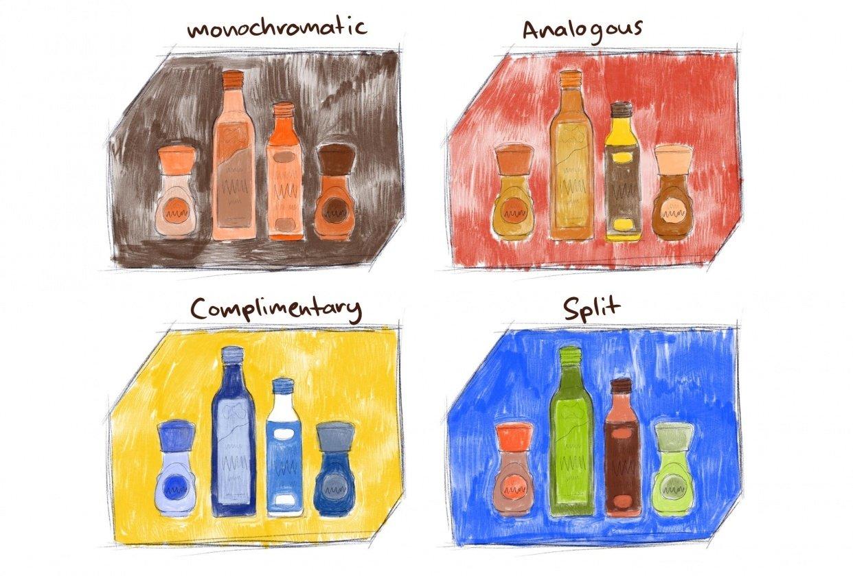 Colour harmonies - student project