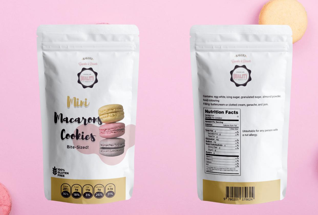 Mini Macaron Cookies - student project