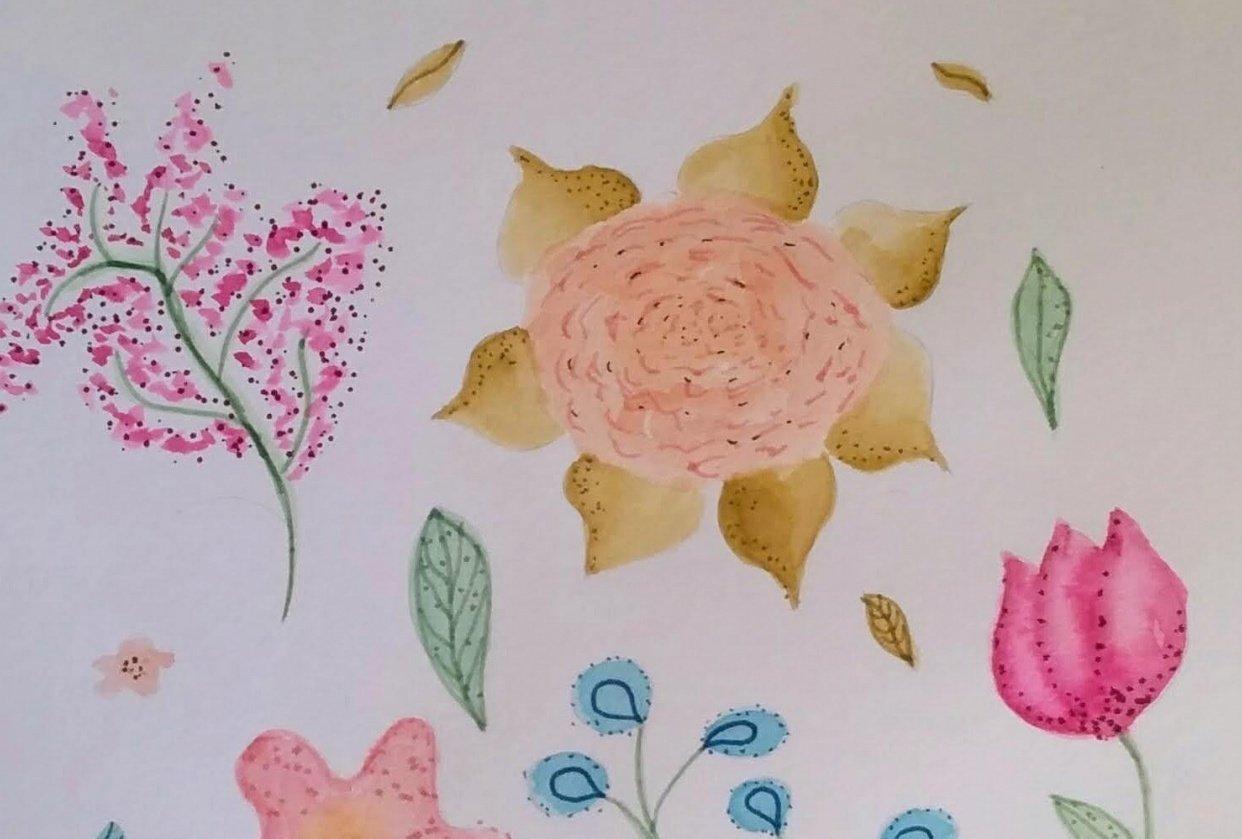 @aisacrrafts botanical illustration - student project