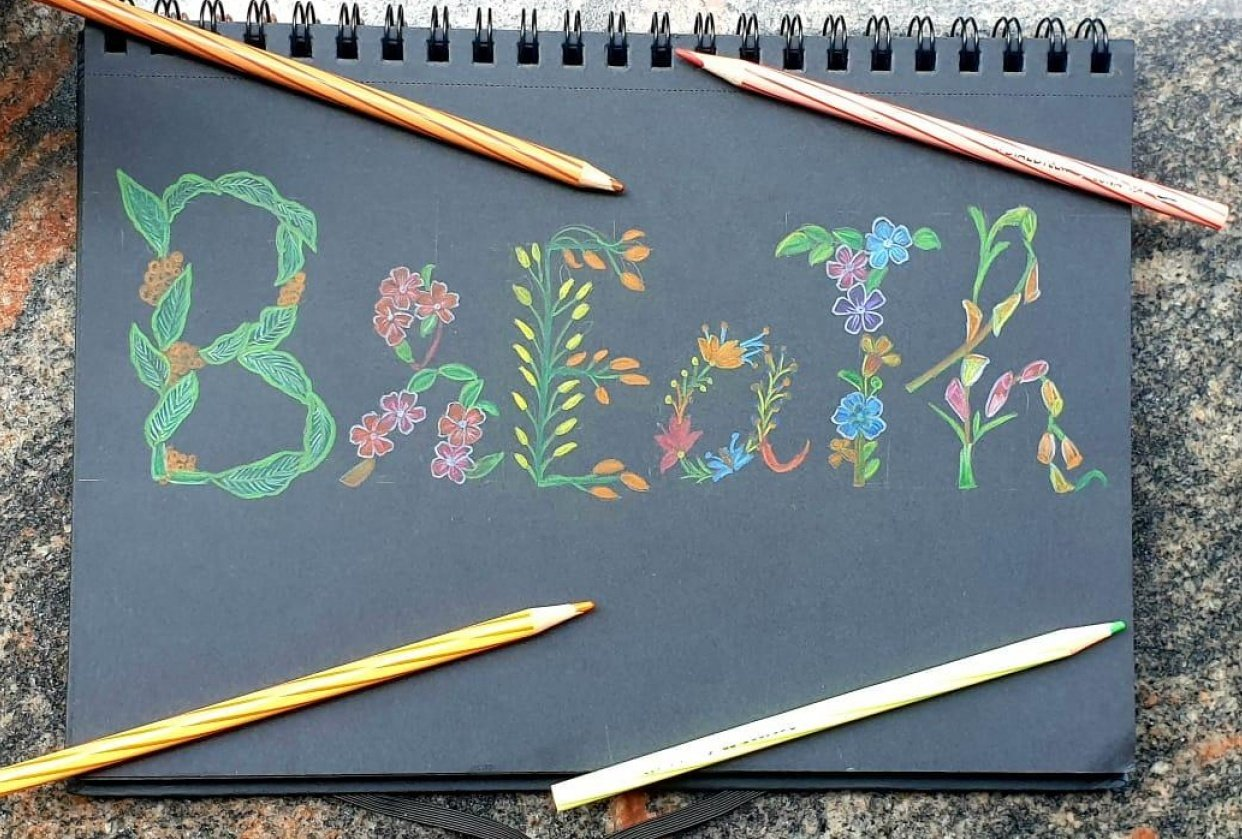 floral lettering - student project