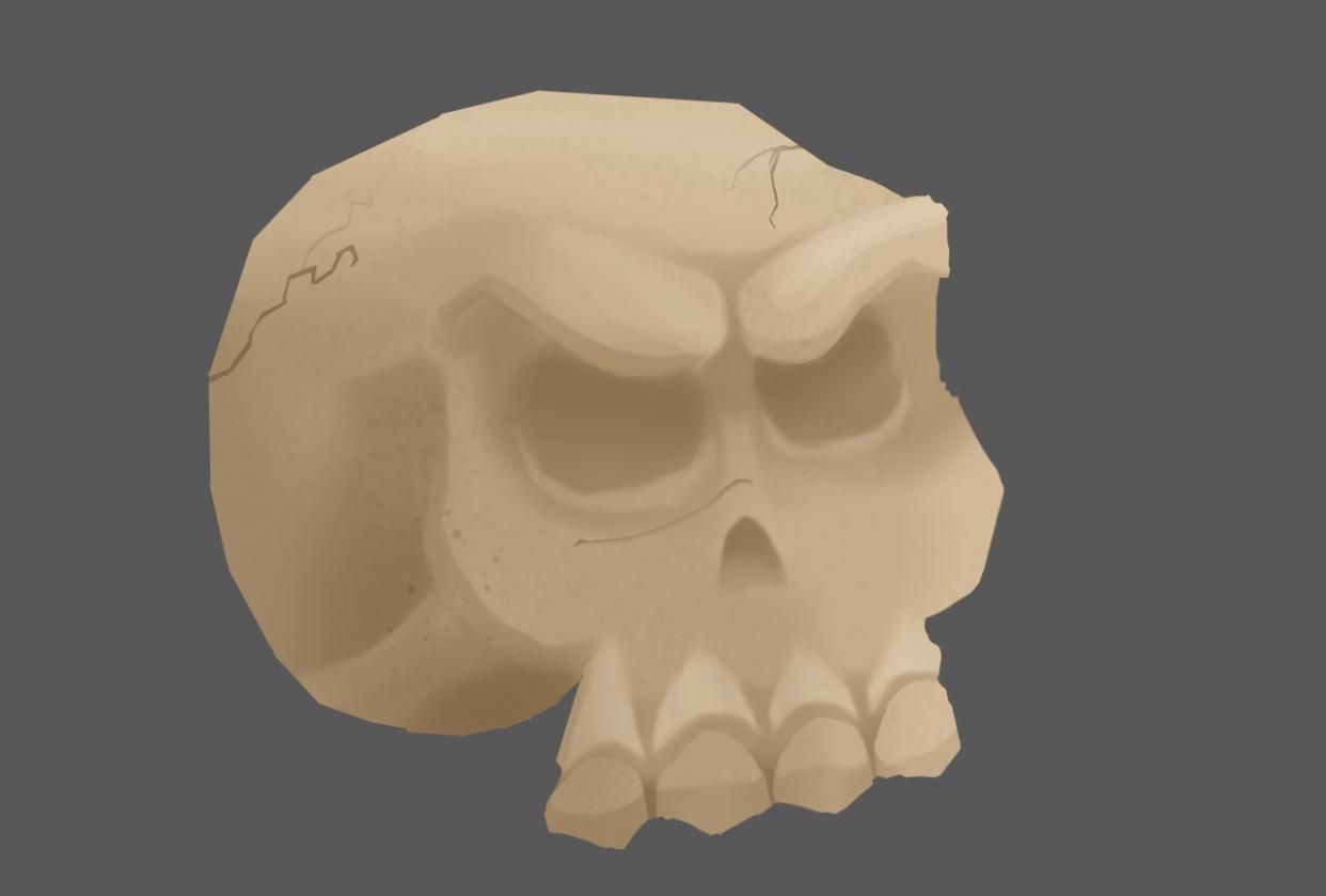 Tutorial Skull, Luke J - student project