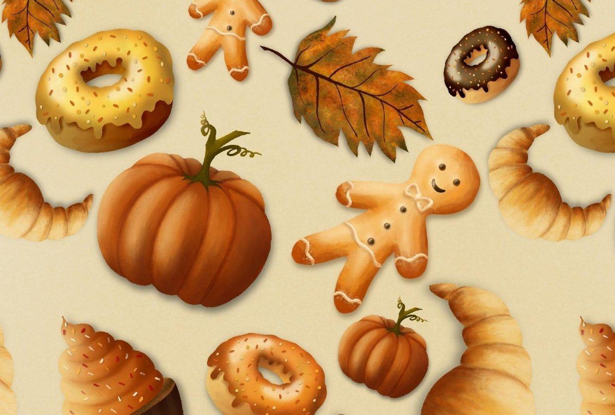 Autumn pattern - student project