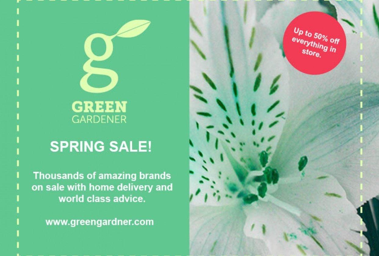 Green Gardner Flyer - student project