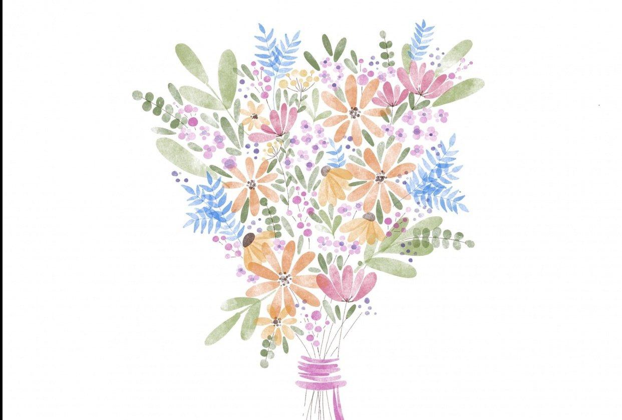 in the meantime...a bouquet for you. - student project