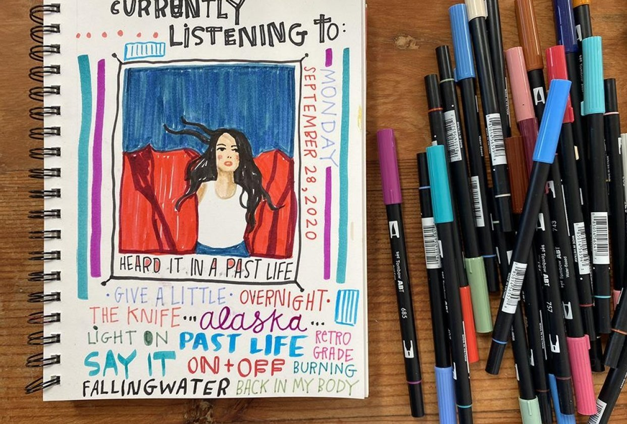 Illustrated Journaling: Day 1 - student project