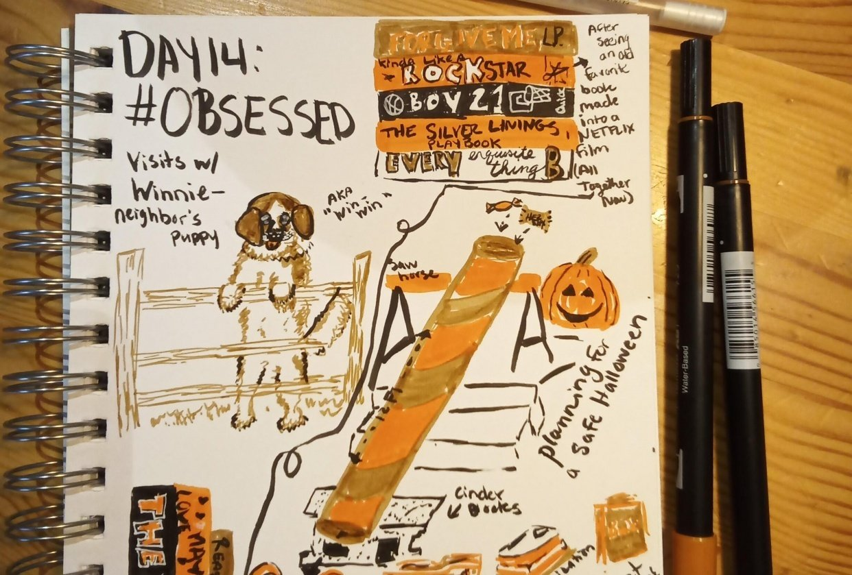 Daily Illustrated Journaling - student project