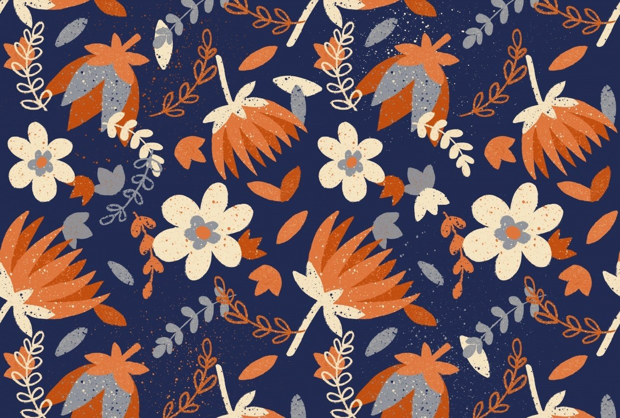 Seamless Pattern in Procreate - student project