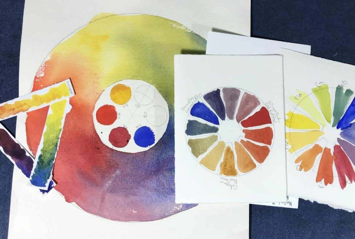 Color Wheels created from your Color Mix Strips - student project