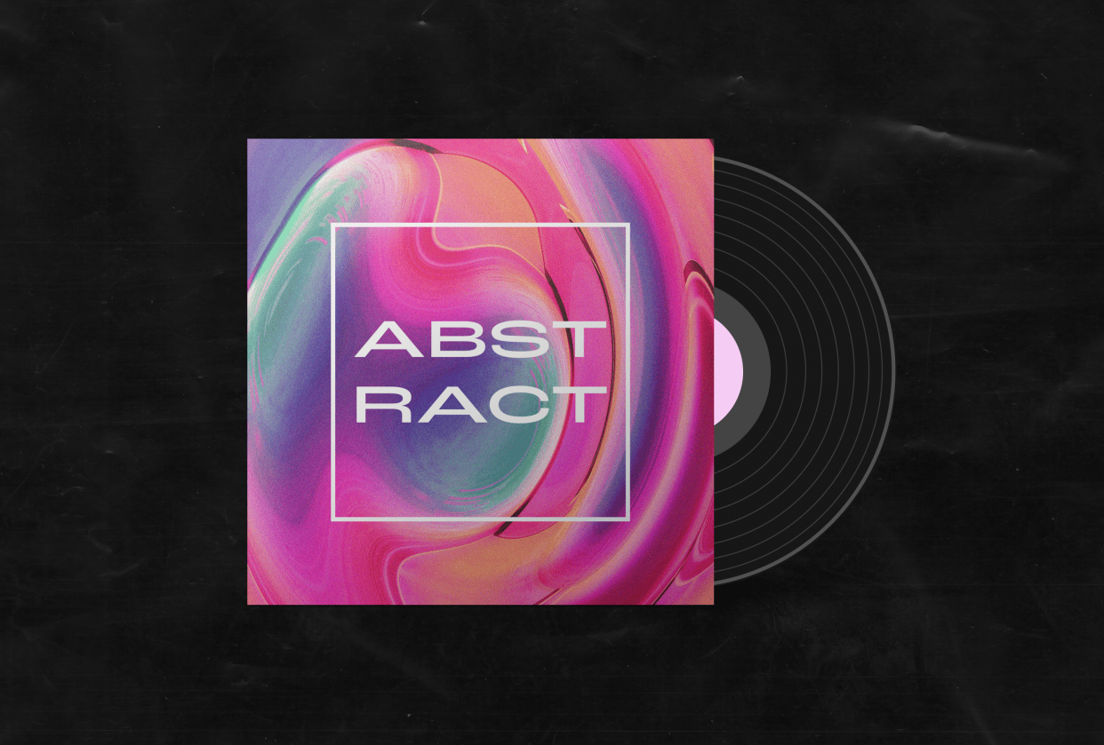 abstract album cover - student project