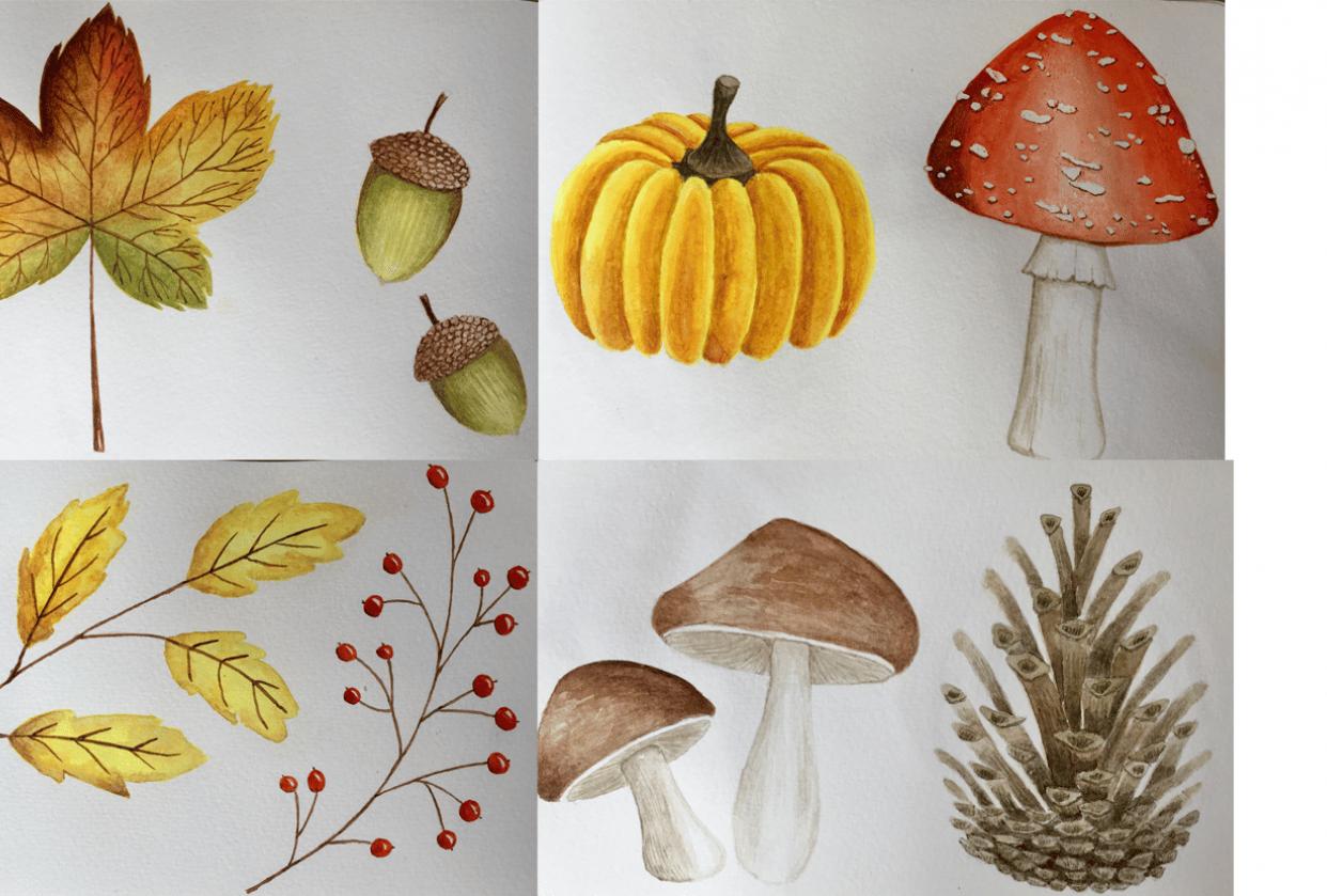 Autumn sketchbook - student project