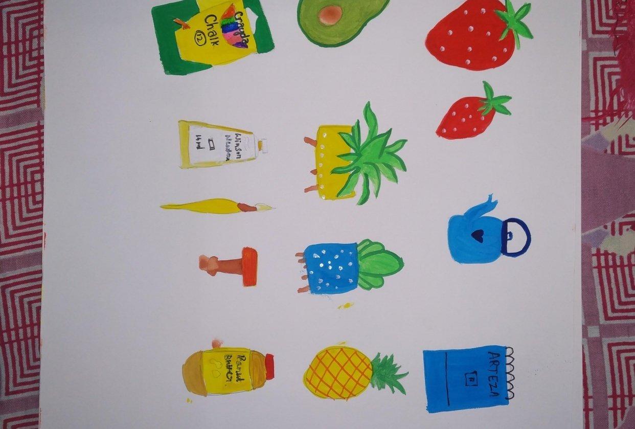 Gouache fun !! - student project