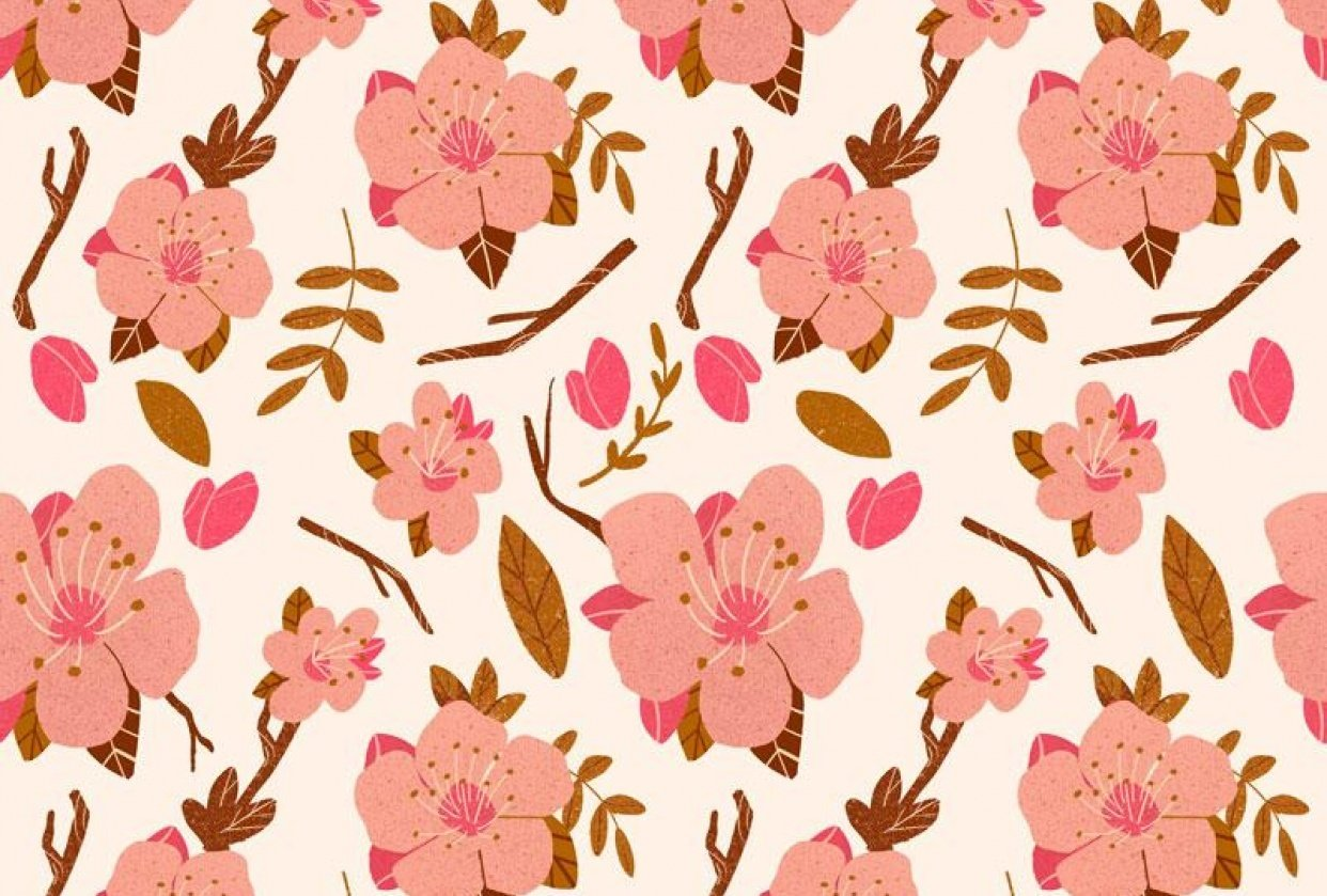 Almond Blossom Pattern - student project