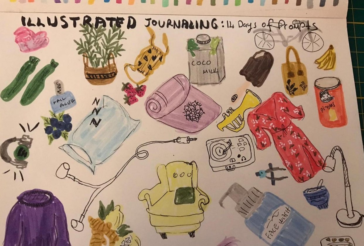 Illustrated Journaling: 14 Days of Prompts - student project