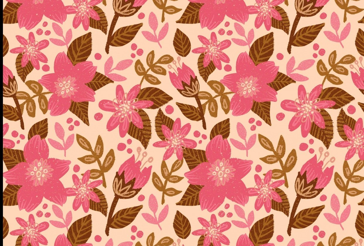 repeat floral pattern - student project