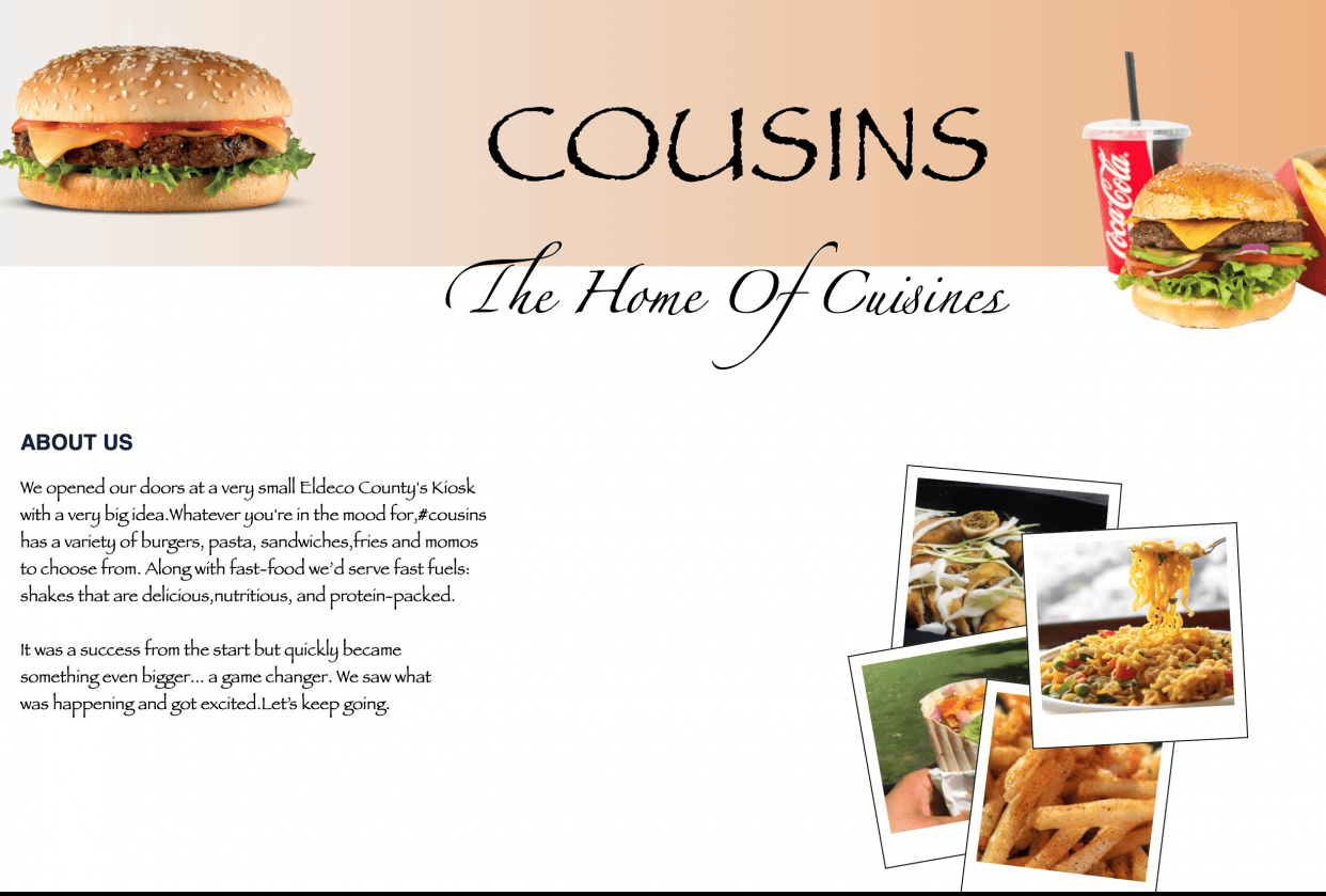 Website page - student project