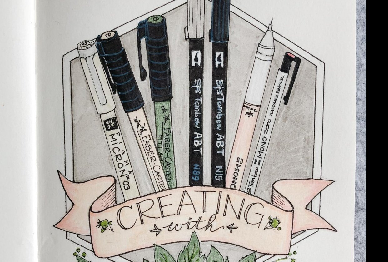 Illustrated Journalling 28 day challenge- PT 1 - student project