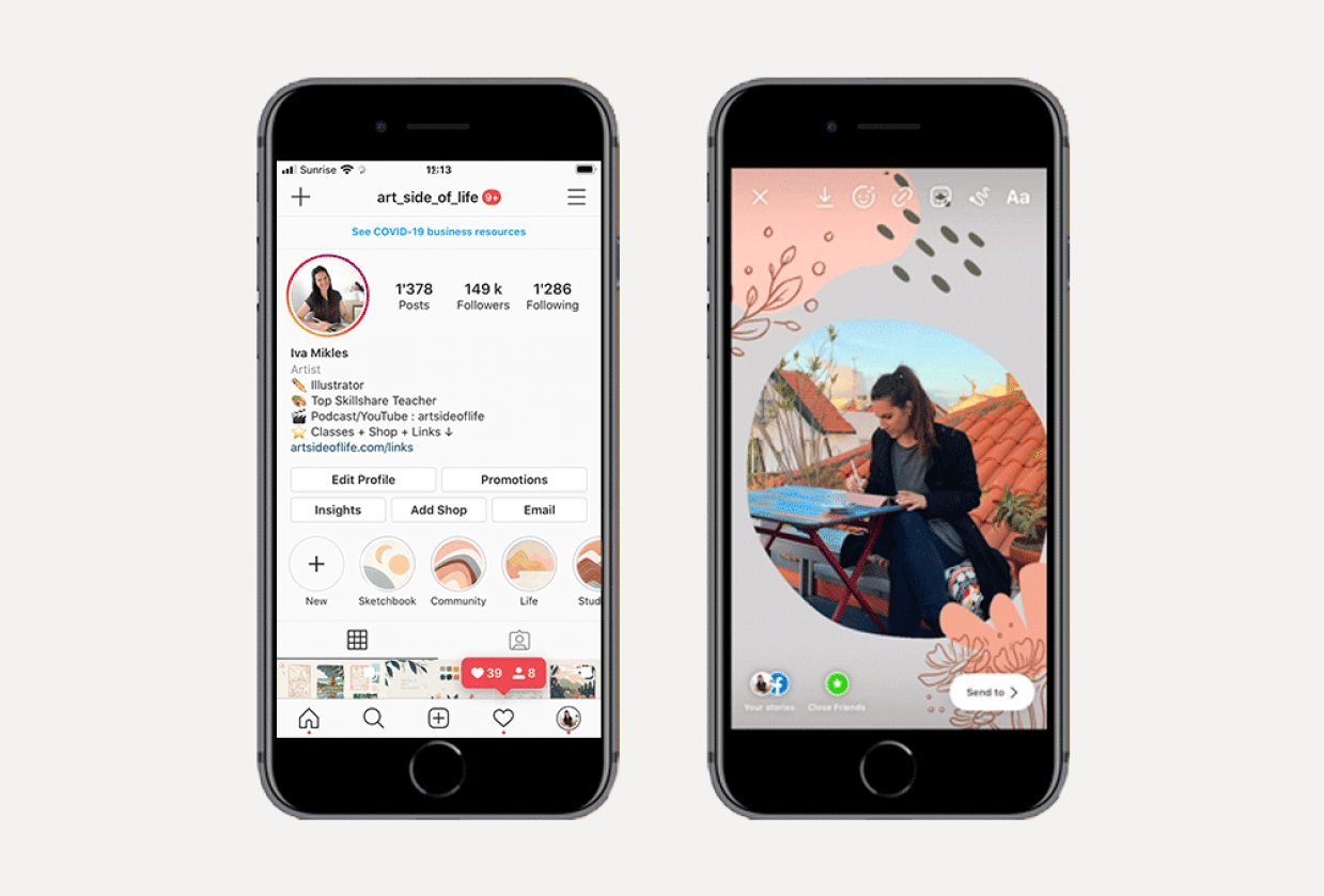 Instagram Stories Ideas - student project