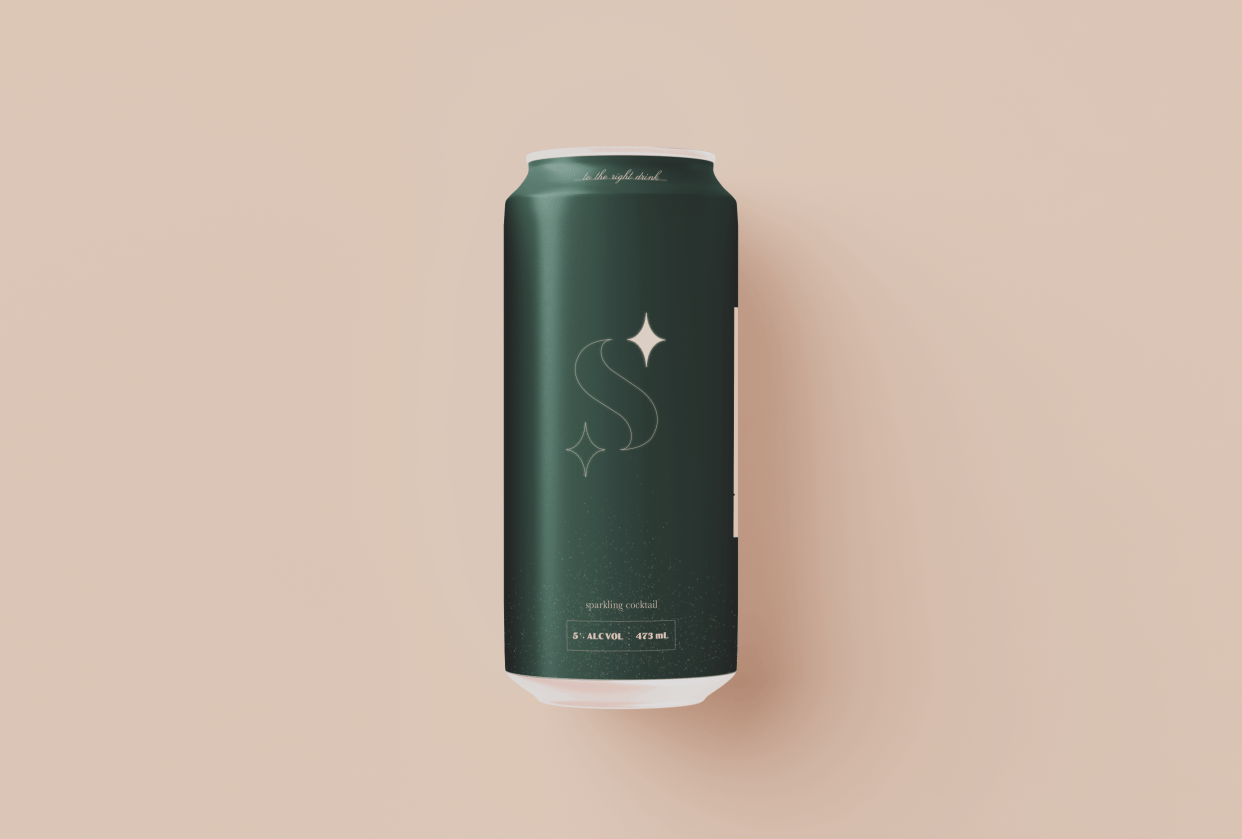 Second Star: Sparkling Cocktail - Beverage Brand - student project