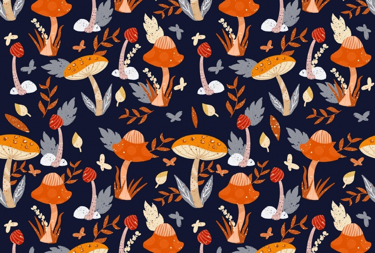 Mushrooms pattern - student project