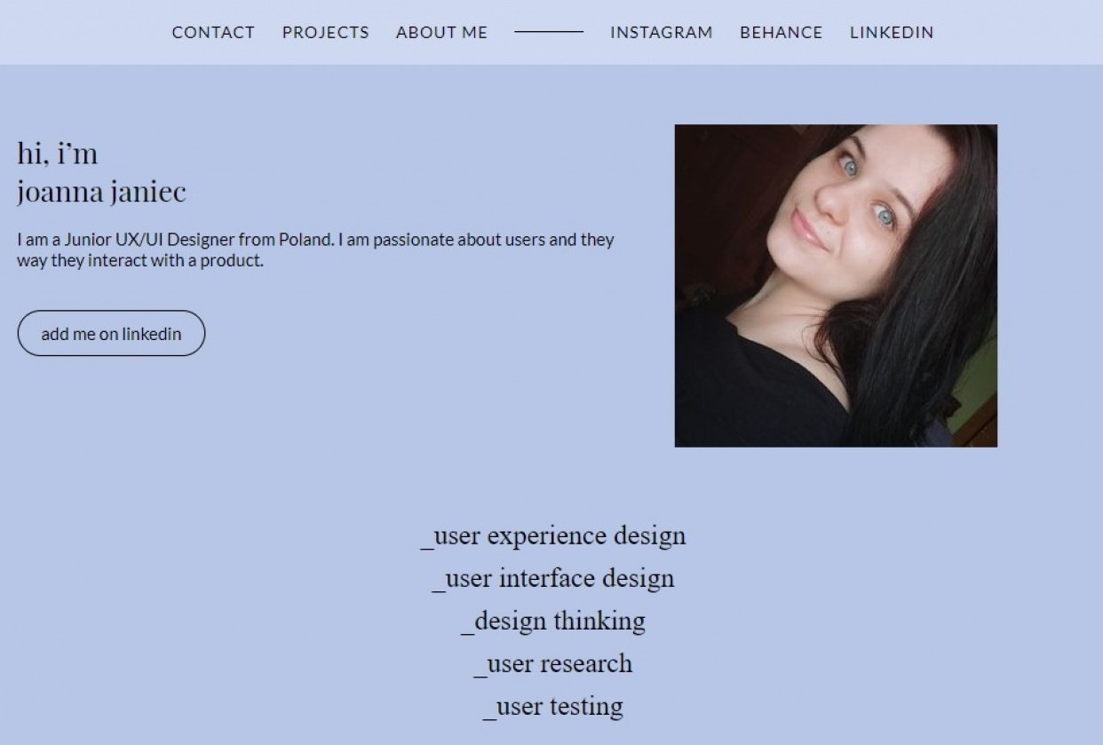 Portfolio project - student project