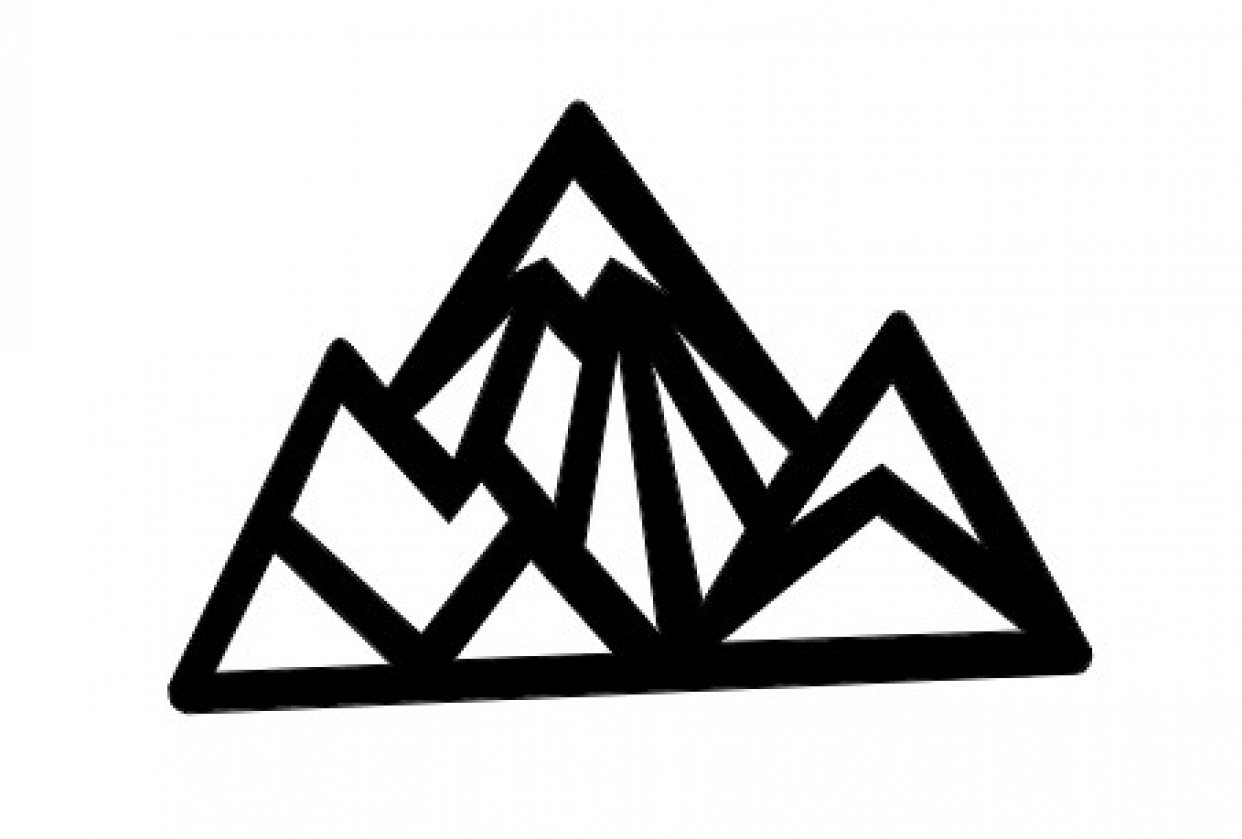 Mountain necklace design - student project