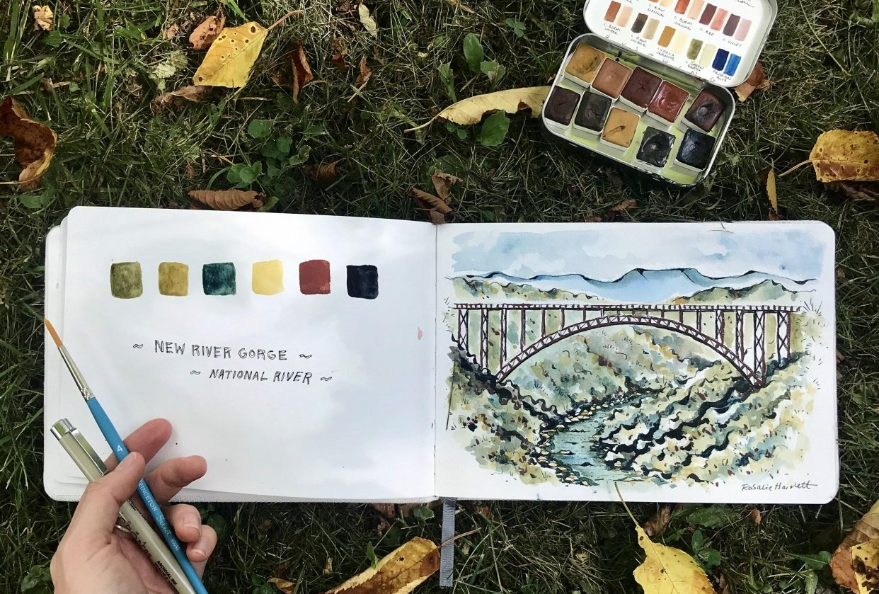 New River Gorge Scene - student project