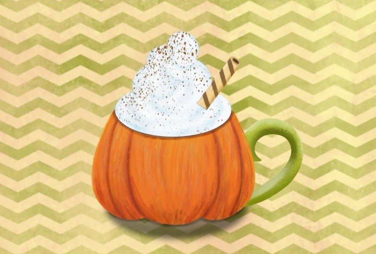 Fall pumpkin chevron - student project