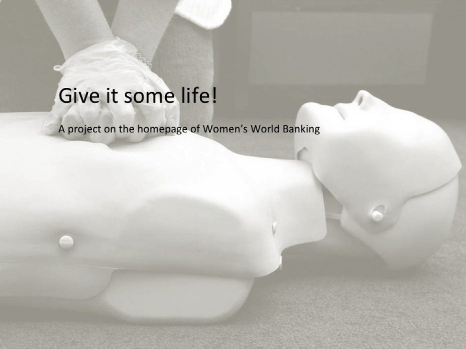 Give it life! A homepage analysis of Women's World Banking - student project