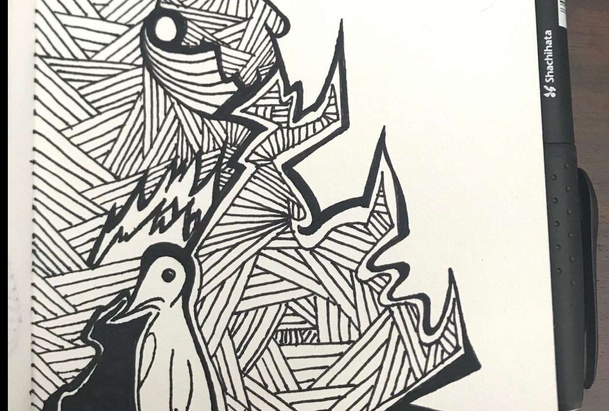 Intricate Drawing in my A6 Visual Diary - student project