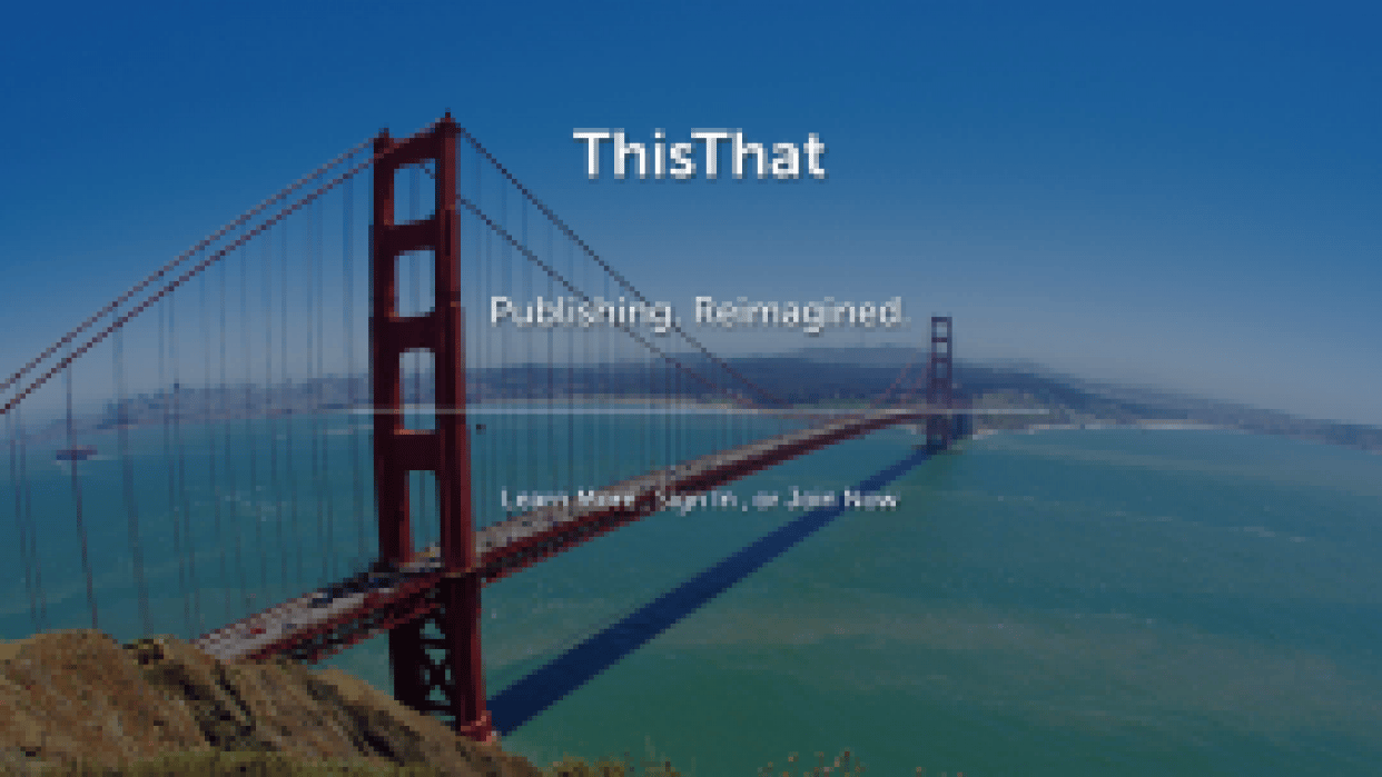 ThisThat - Reddit for blogging. - student project