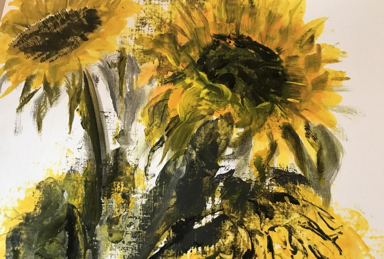 Sunflower memories - student project