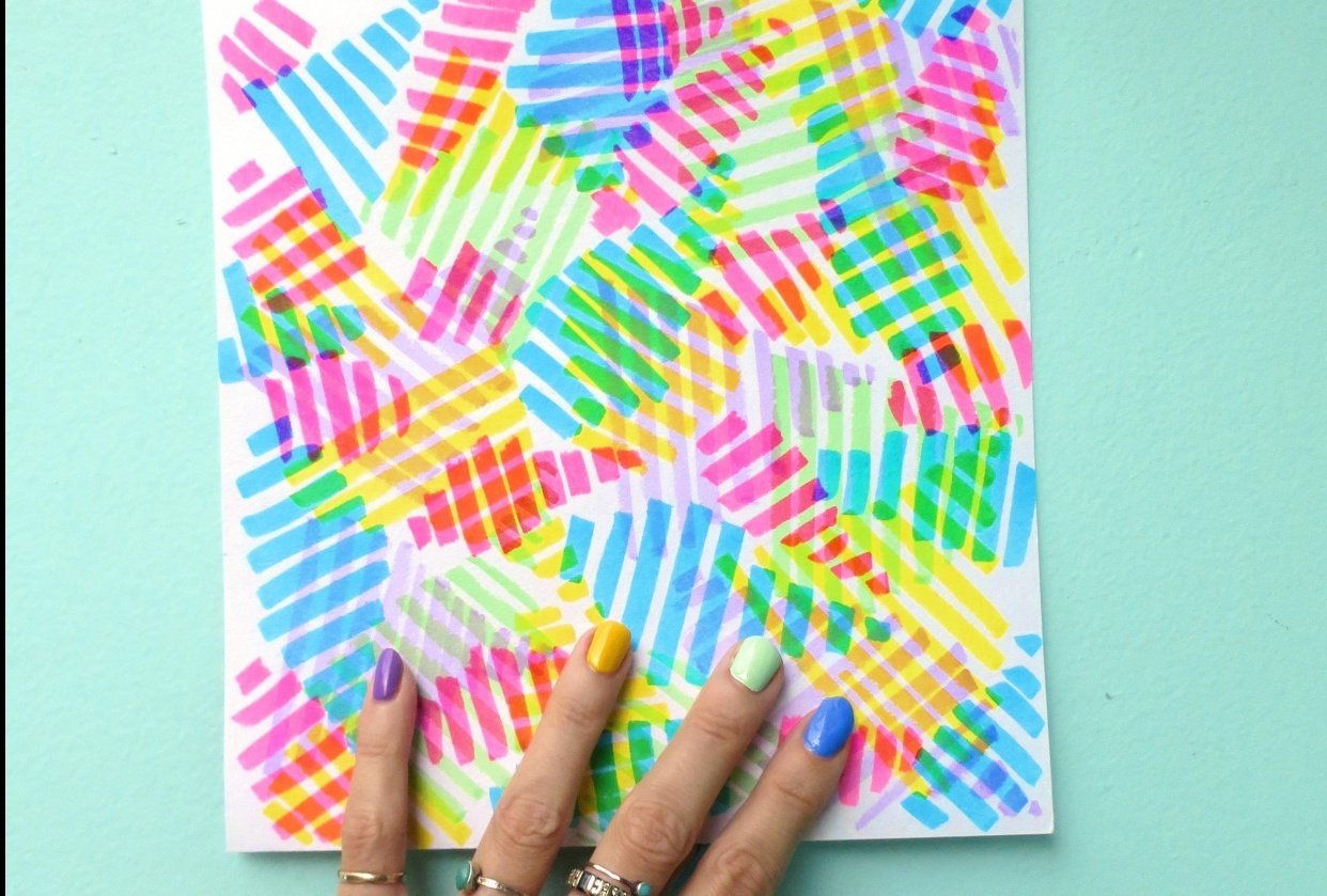 Abstract Rainbows – inspired by my nail polish! - student project