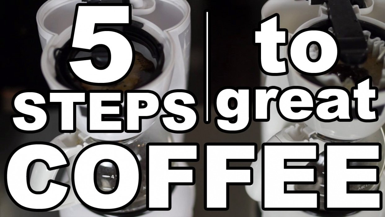 5 Steps to Brewing Great Coffee at Home  - student project