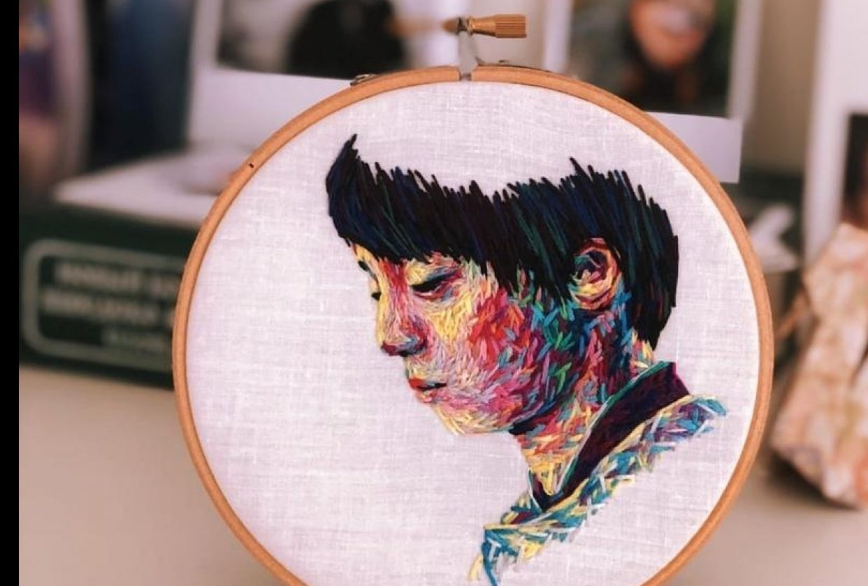 Portrait embroidery - student project