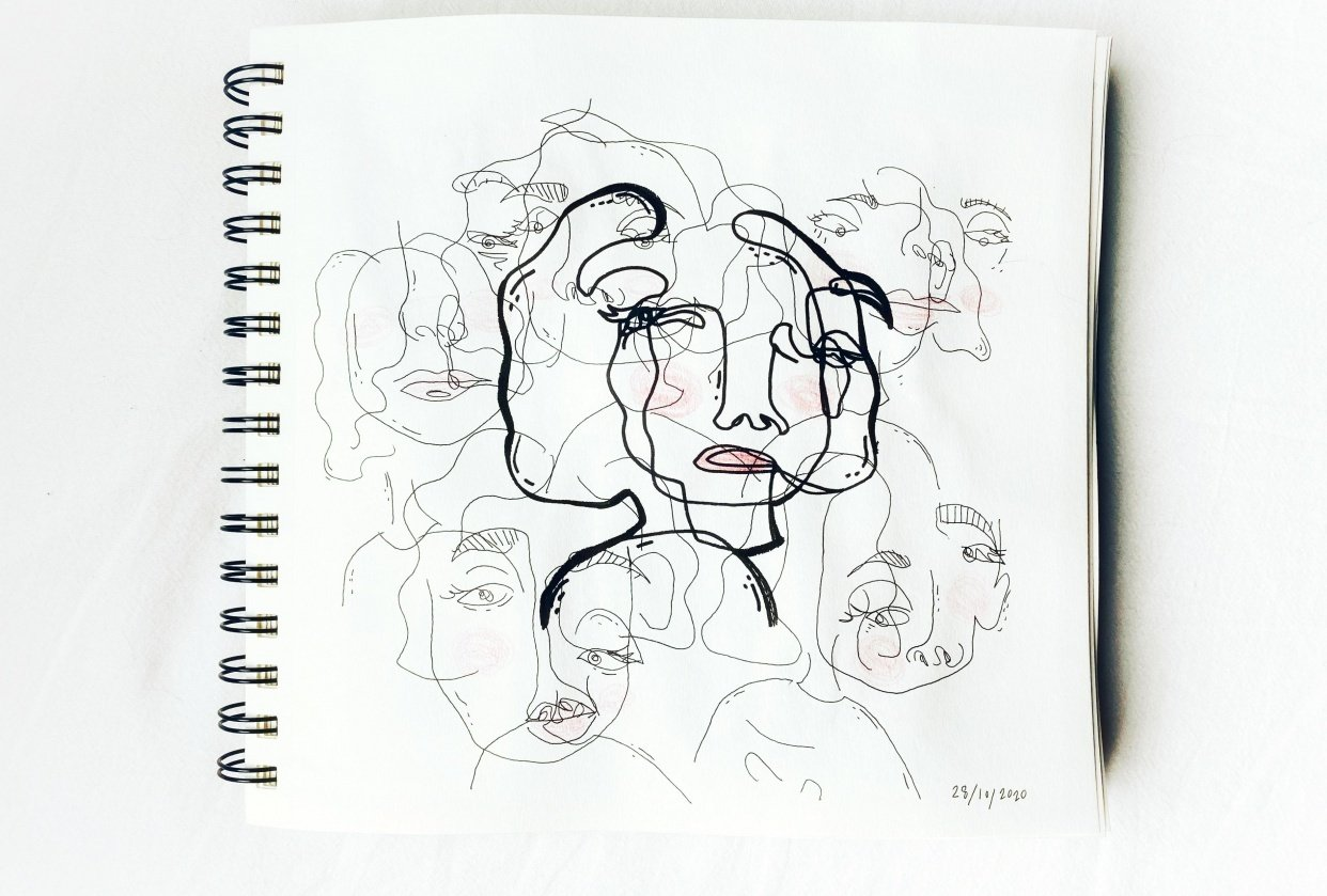 Contour Faces - student project
