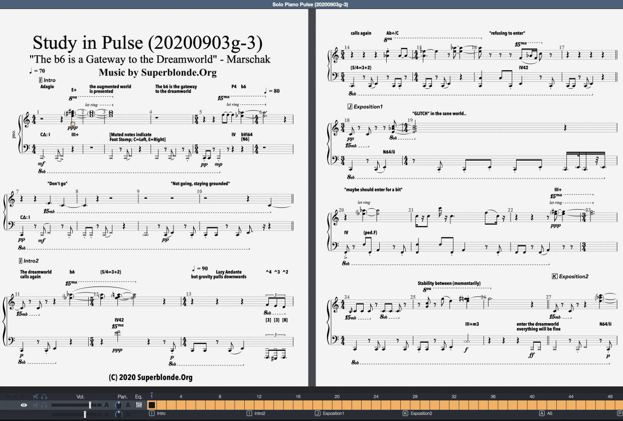 """""""Pulse"""", Modern Piano Composition (Draft) - student project"""