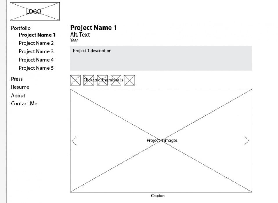 Portfolio Site - student project