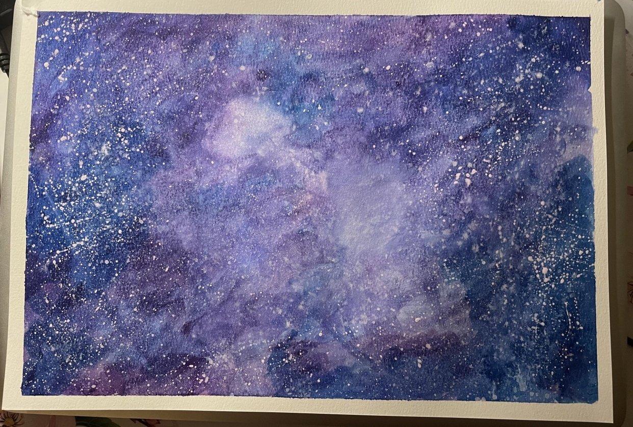 Purple Galaxy - student project