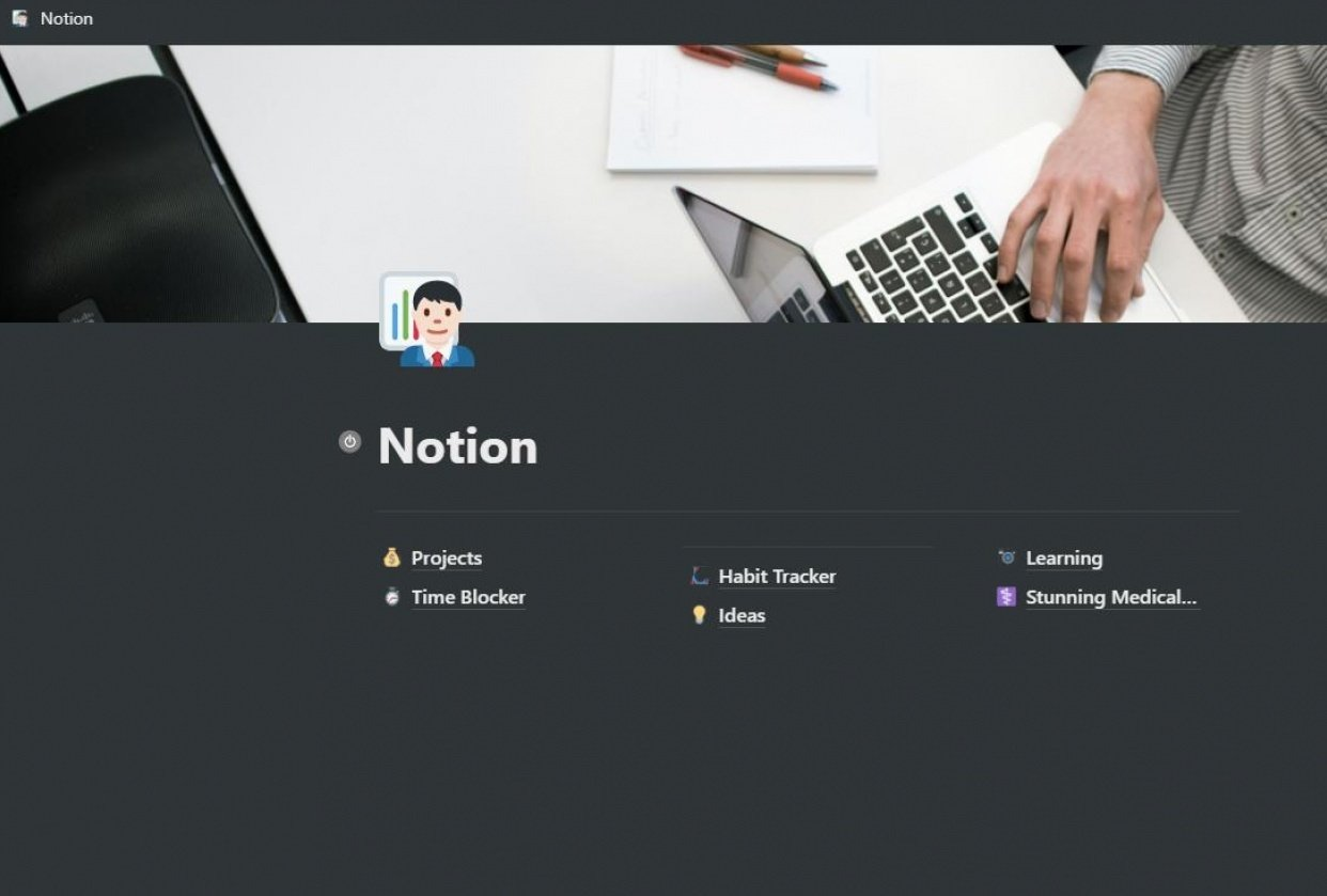 Notion App Setup for more Productivity - student project