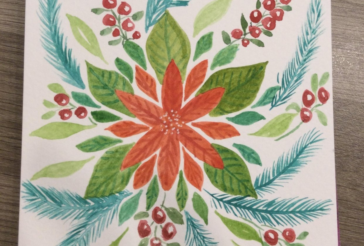 Poinsettia Doodle - student project