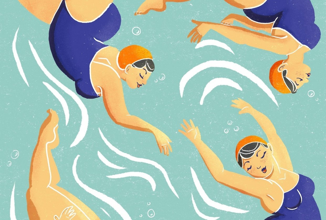 Synchronized Swimming - student project