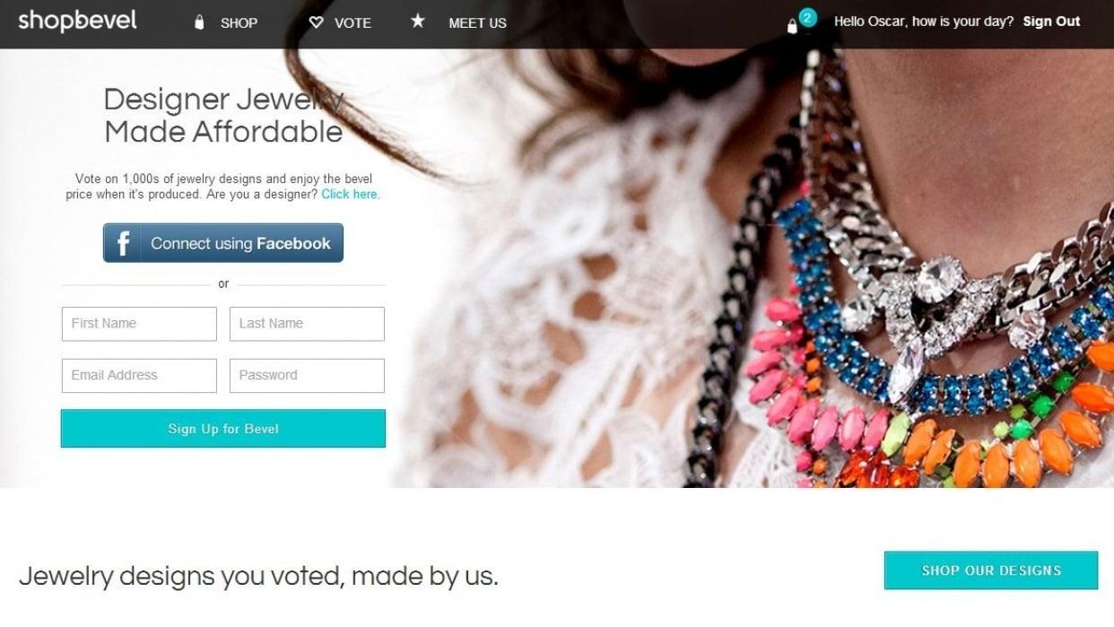 Fashion Jewelry / E-Commerce - student project
